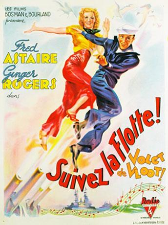 En suivant la flotte (1936) affiche